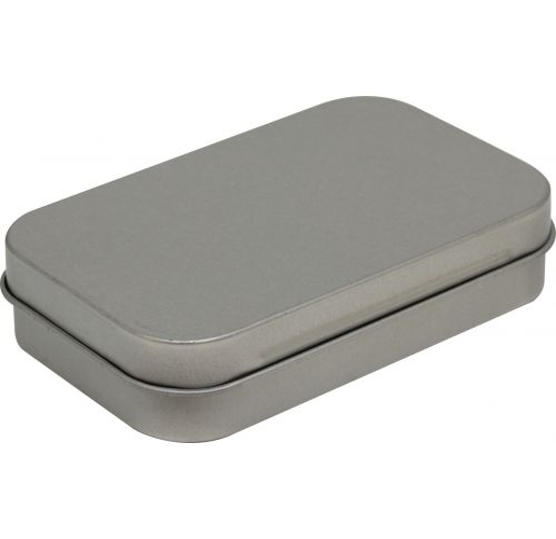 Silver Metal Stash Tin