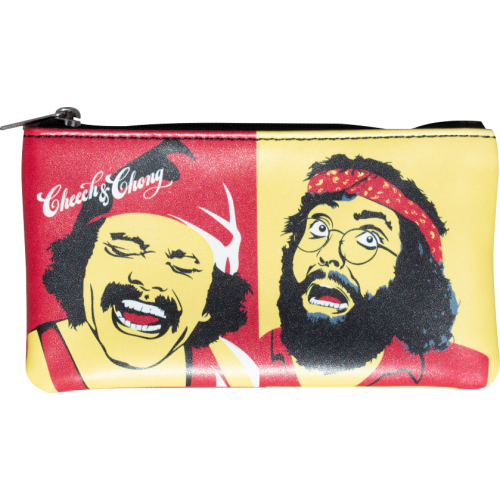 Cheech & Chong Up In Smoke Red Retro Tobacco Pouch  Front