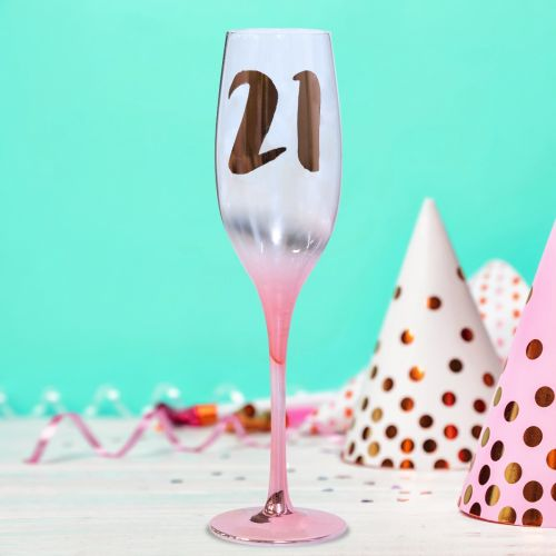 WINE GLASS 21ST BIRTHDAY TALLULAH BLUSH