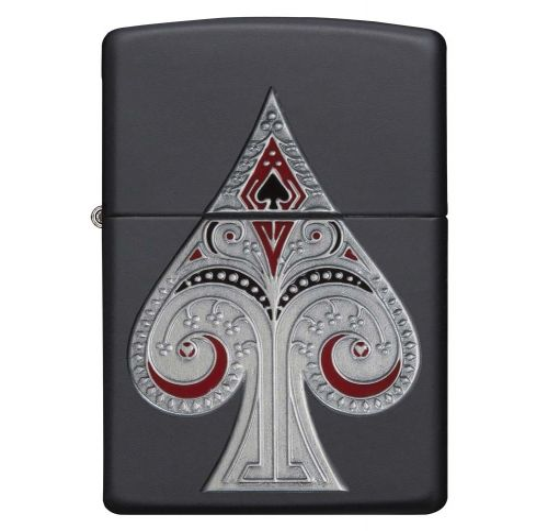 Zippo - Spade Emblem Matte Black