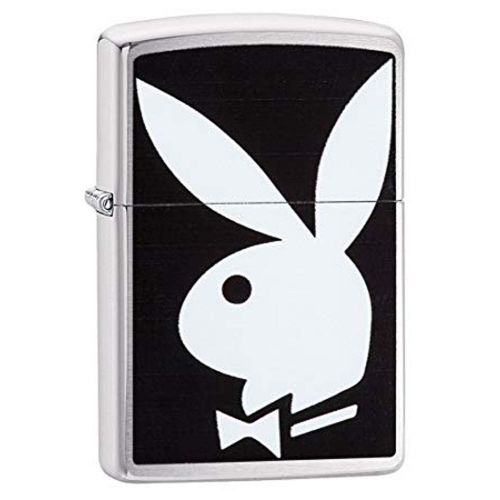 Zippo - Playboy Brushed Chrome