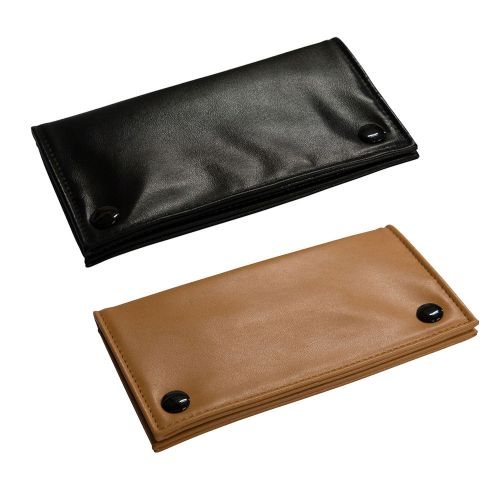 Leather Button Close Pouch