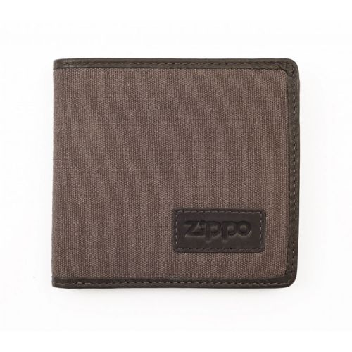Zippo Wallet Leather & Canvas