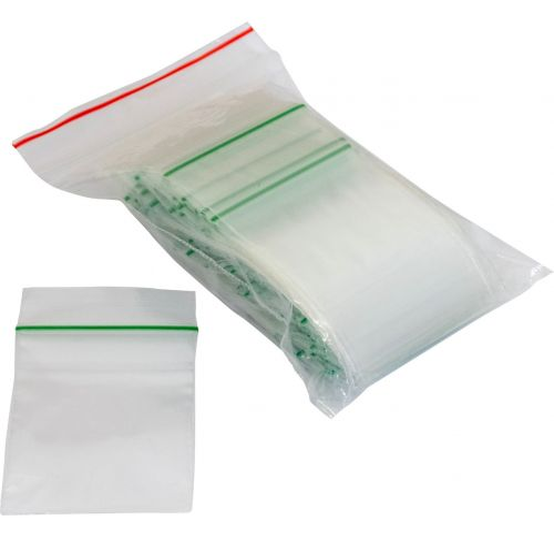 100 Plastic Bags (38 x 51mm)