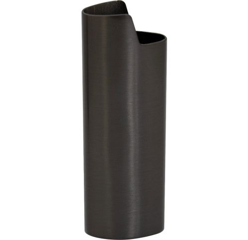 Plain Metal Lighter Case Black