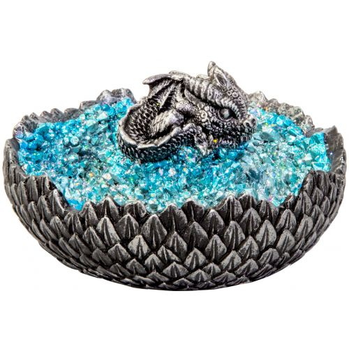 Dragon Egg Hatching Ashtray with blue