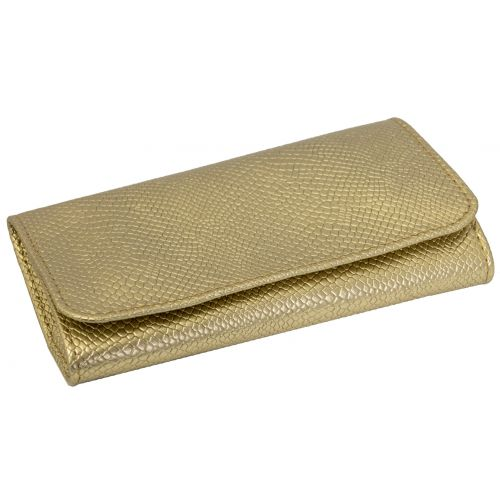Tobacco Pouch Snake Skin Gold