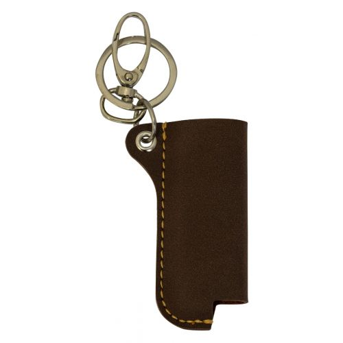Lighter Case Suede Leather Coffee