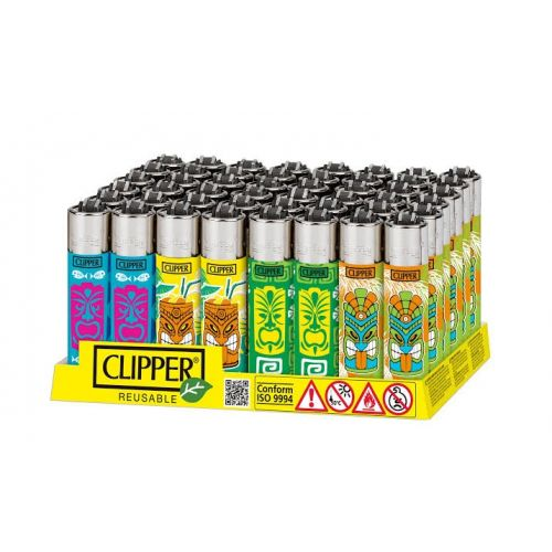 Clipper Printed Tikis Lighter