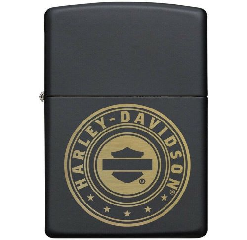 Zippo - Harley Davidson Black Matte Laser Engraved