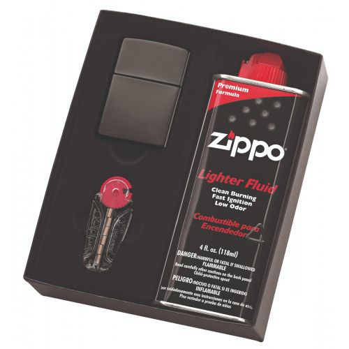 Zippo - Black Ice Lighter Fluid & Flint Pack