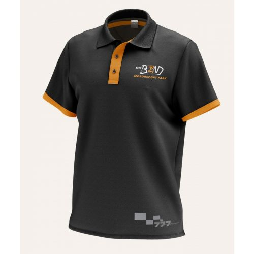 The Bend Sublimated Polo Black