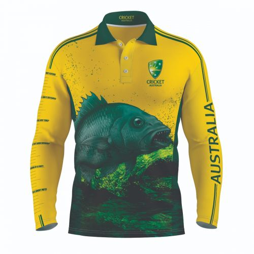 Cricket Australia Fishing Shirt Front