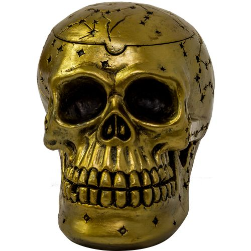 Ashtray Skull Gold