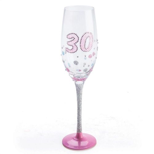 Champagne Flute 30th Birthday Pink Sparkle