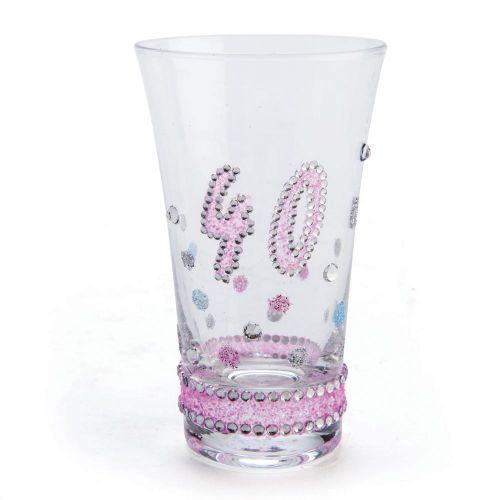 Sparkle 40th Birthday Shot Glass