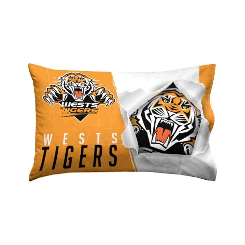 NRL West Tigers Pillow Case