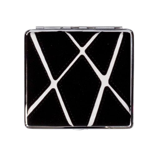 Cigarette Case Black With Graphic Stripes Holds 20