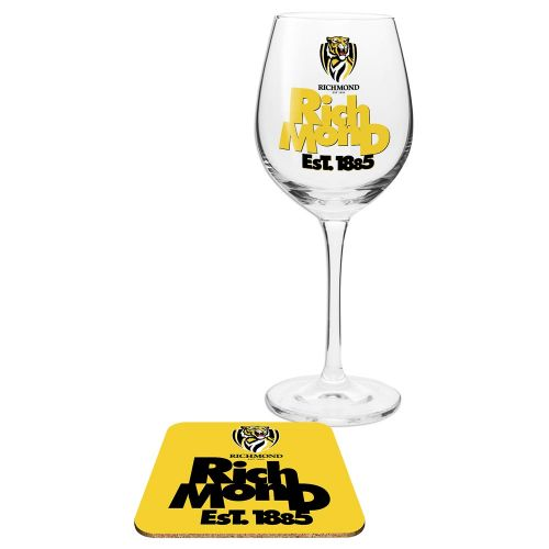 AFL Wine Glass & Coaster Richmond 2016