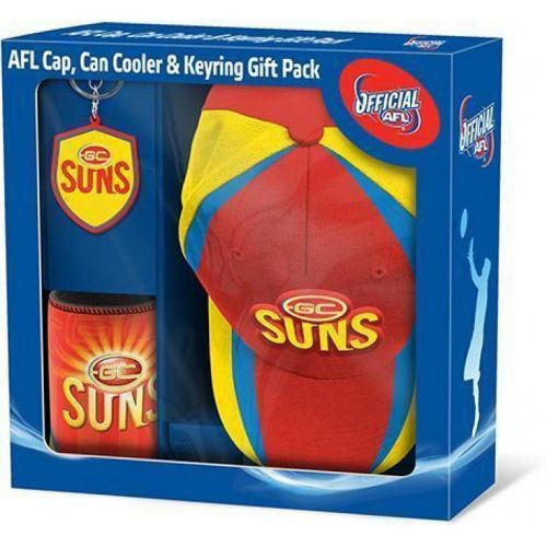AFL Gift Pack: Cap Keyring And Can Cooler Gold Coast