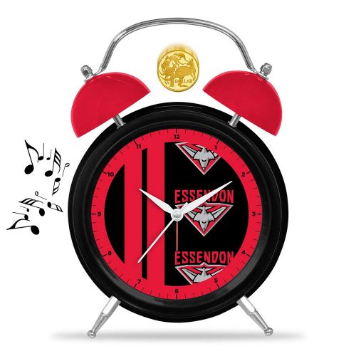 AFL Essendon Musical Alarm Clock 21cm