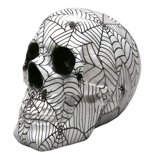 Decor Skull - Spiderwebs