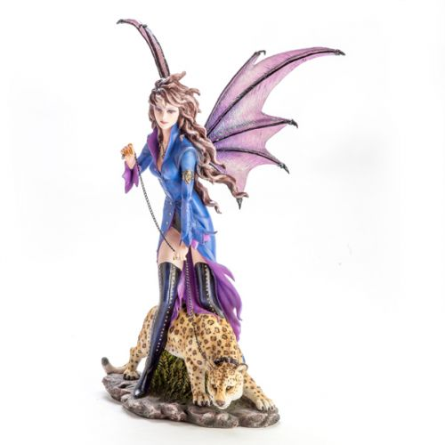 Large Fairy Figurine Vampire With leopard