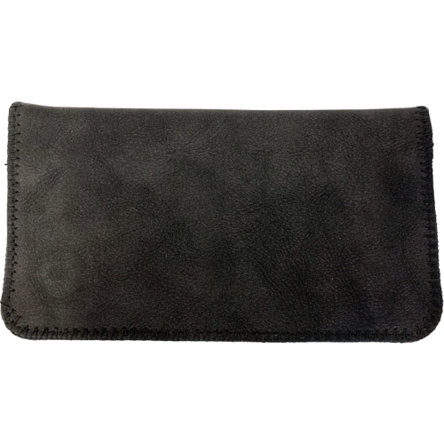 Deluxe Black Suede King Size Tobacco Pouch