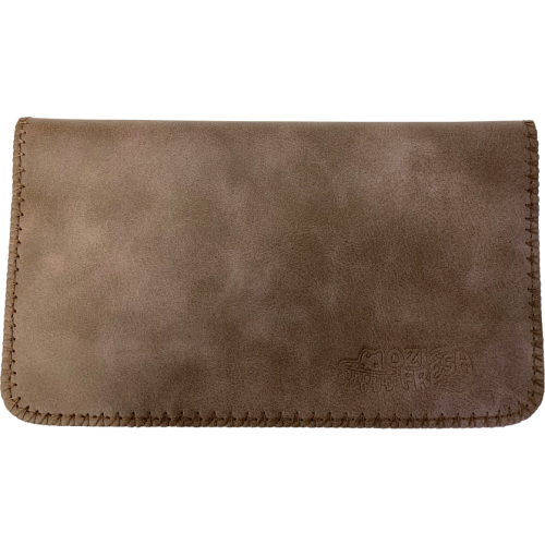 Deluxe Brown Suede King Size Tobacco Pouch