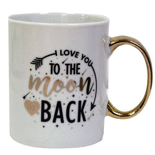 Mug Mum Fuel Love You To The Moon & Back Gold Handle