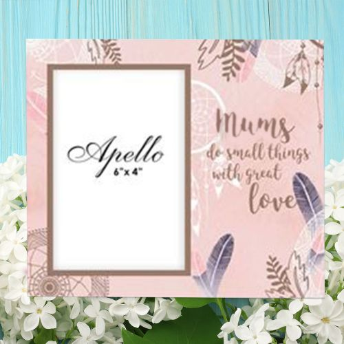 Mums Do Small Things w/ Great Love - Photo Frame, Peach