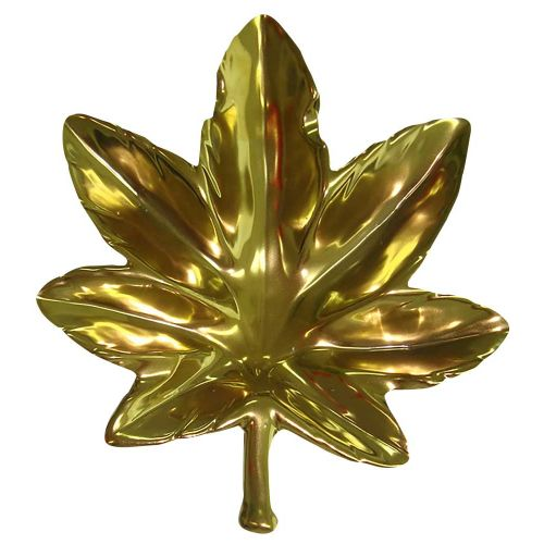 ASHTRAY LEAF GOLD CERAMIC