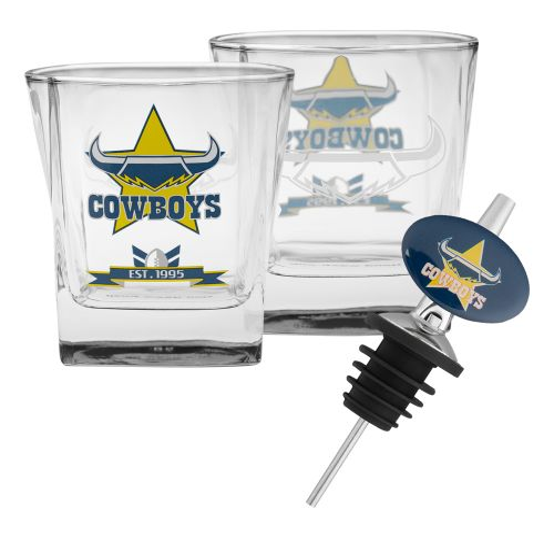 NRL Cowboys Spirit Glasses Set of 2