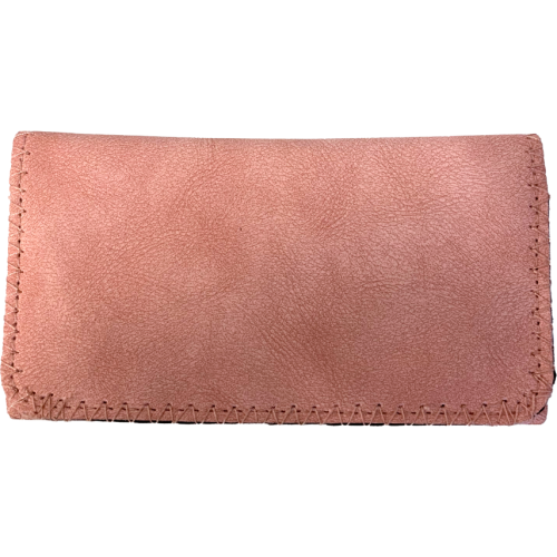Deluxe Pink Suede King Size Tobacco Pouch