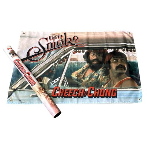 Cheech & Chong Up In Smoke Wall Flag
