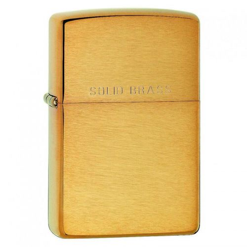 Zippo - Brushed Finish Brass With Solid Etch