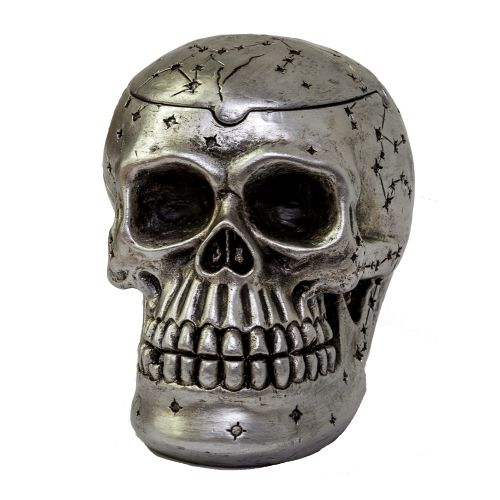 Ashtray Skull Silver