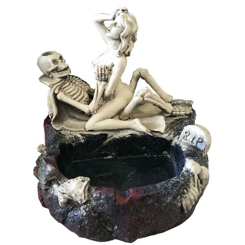 Skeleton Couple Missionary Ashtray