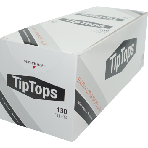 Tip Tops 5.3mm Extra Long Micro Slim Filters 1,560 (12x130)