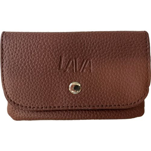 Tobacco Pouch With Paper Holder Lined Self Closing Brown Leather