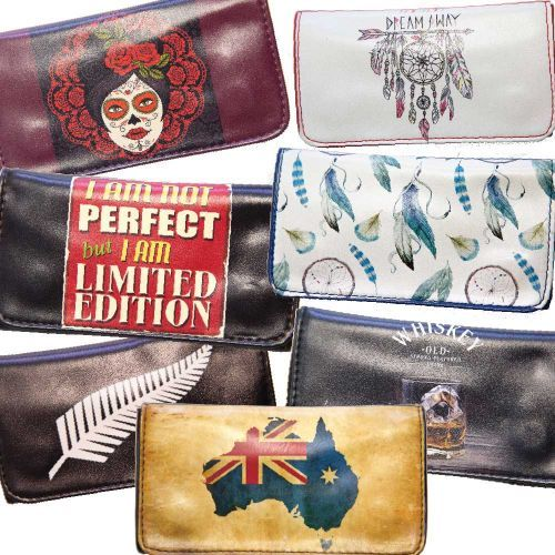 Printed Leather Pouch Assorted Designs