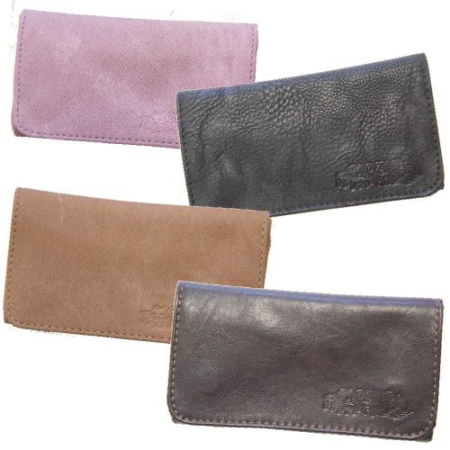 TOBACCO POUCH LEATHER PLAIN ASSORTED COLOURS