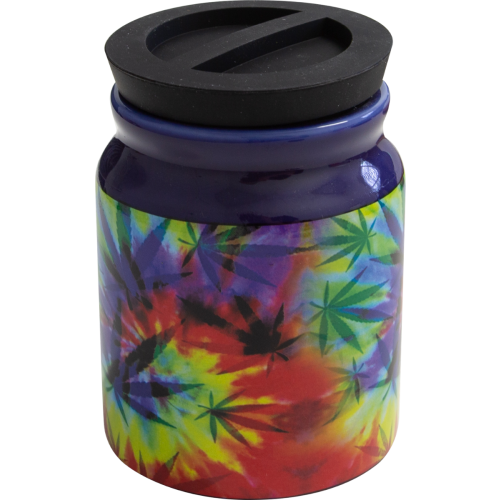 Storage Jar Weed Leaf