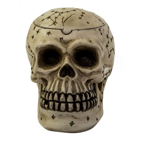 Ashtray Skull White