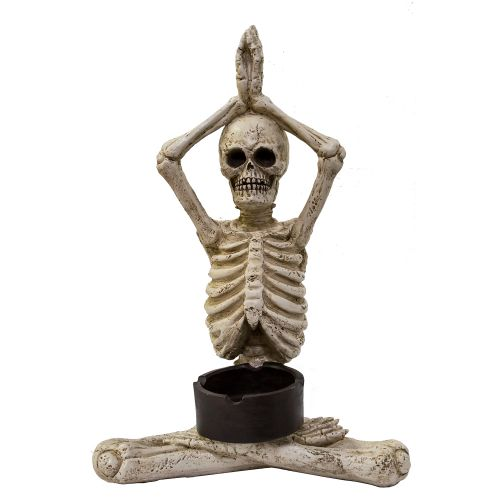 Ashtray Yoga Skelly Hands Up