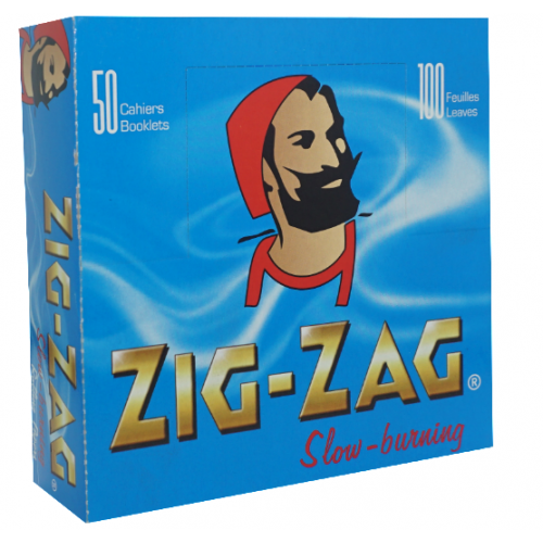 Zig Zag Double Blue Rolling Papers 2,500 Leaves (50x50L)