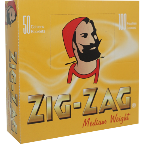 Zig Zag Double Yellow Rolling Papers 2,500 Leaves (50x50L)