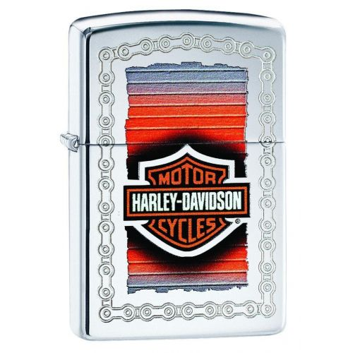 ZIPPO HARLEY DAVIDSON CLASSIC LOGO WITH CHAIN