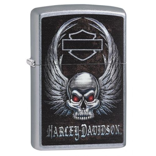 ZIPPO HARLEY DAVIDSON SKULL WITH WINGS