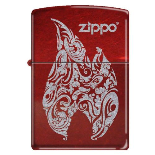 ZIPPO RED FLAMES CANDY APPLE